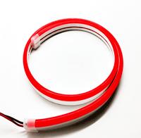 Красный гибкий неон 12 вольт 11Вт 25 мм 8х16мм
