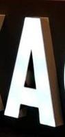 Объёмные буквы с внутренней светодиодной подсветкой эконом