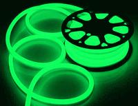 Гибкий неон 12В 11Вт 25 мм, 8х16 зеленый
