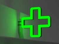 "Аптечный крест ""Полый"", 600х600мм"