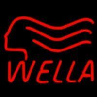 Неоновая вывеска на оргстекле Wella